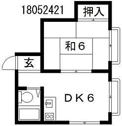 江田ビル[2階]の間取り
