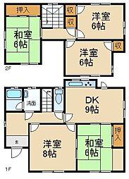 [一戸建] 大阪府枚方市東香里新町 の賃貸【/】の間取り