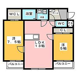 ウッドベルステージ[1階]の間取り