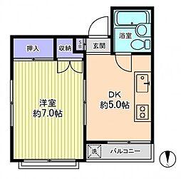 ミドリヤサニーマンション[3階]の間取り