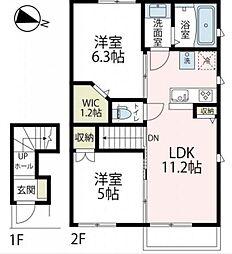 エルメゾン六浦(仮称)[2階]の間取り