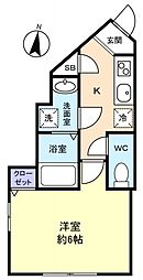 シエロⅠ[2階]の間取り