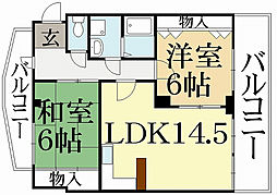 マンションウィステアリア[3階]の間取り