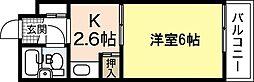 SS江波ビル[4階]の間取り