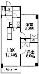 北海道札幌市西区発寒十一条4の賃貸マンションの間取り