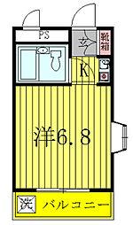 中島ハイツ[203号室]の間取り