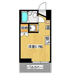 秋元ビル[302号室]の間取り