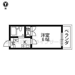 アレックス東福寺[102号室]の間取り