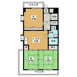 第2平安ビル[5階]の間取り
