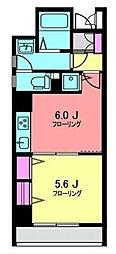 神奈川県横浜市中区日ノ出町2丁目の賃貸マンションの間取り