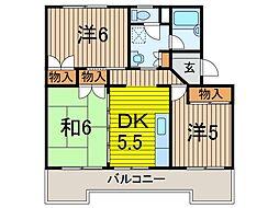 須賀第6ビル[3階]の間取り