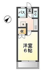 愛知県清須市阿原鴨池の賃貸マンションの間取り