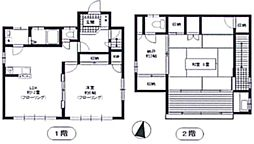 [一戸建] 東京都豊島区南大塚1丁目 の賃貸【/】の間取り