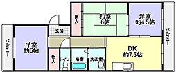 イワイマンション[4階]の間取り