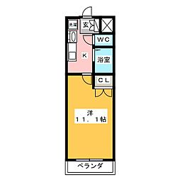愛知県名古屋市中村区畑江通7丁目の賃貸マンションの間取り