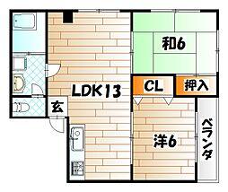 永松ビル[3階]の間取り