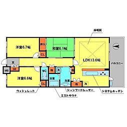 ディーグラフォート千里中央[4階]の間取り