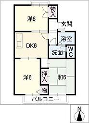 シャルムT A棟[2階]の間取り