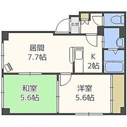 鶴巻マンション[3階]の間取り