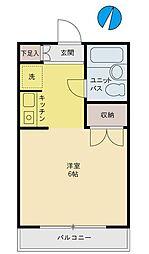 東京都文京区小日向3丁目の賃貸マンションの間取り