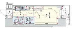 Osaka Metro谷町線 四天王寺前夕陽ヶ丘駅 徒歩5分の賃貸マンション 3階1Kの間取り