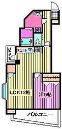 埼玉県さいたま市南区太田窪の賃貸マンションの間取り