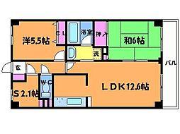 ライオンズマンション調布小島町[5階]の間取り