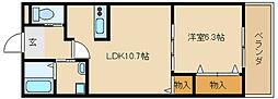 兵庫県姫路市玉手2の賃貸アパートの間取り