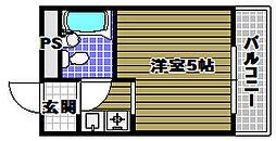 千代田シングルコート[2階]の間取り