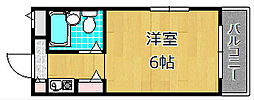ダイケンビル光善寺[4階]の間取り