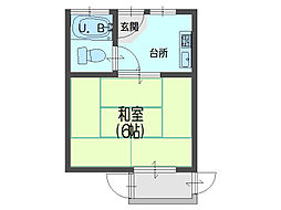 前川ハイツ[1階]の間取り