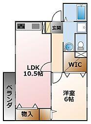ハイツ・ツゥ・サティ[2階]の間取り
