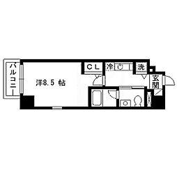 パルティーレEXE片平タワー 8階1Kの間取り