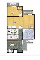 北助松マンション[3階]の間取り
