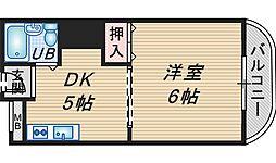 ニューライン城山[202号室]の間取り
