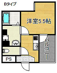 グランエクラ天下茶屋[7階]の間取り