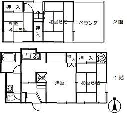 [一戸建] 埼玉県さいたま市大宮区三橋4丁目 の賃貸【/】の間取り