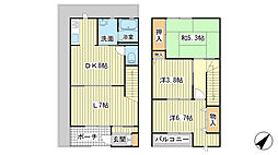 [テラスハウス] 兵庫県相生市ひかりが丘 の賃貸【/】の間取り