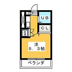 セリニティ塩釜口[4階]の間取り
