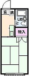 ヒルサイドハイツ[2階]の間取り
