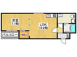 セゾンクレアスタイル新今里[1階]の間取り