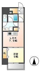 さくらHillsARAKO[6階]の間取り