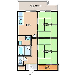 兵庫県尼崎市神田南通6丁目の賃貸マンションの間取り