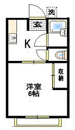 ロイヤル湘南[2階]の間取り
