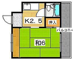 ATコーポ[2階]の間取り