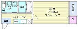 Prendre小田原 3階1Kの間取り