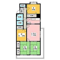 センチュリー21[3階]の間取り