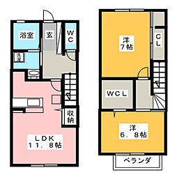 [テラスハウス] 静岡県藤枝市高柳4丁目 の賃貸【/】の間取り