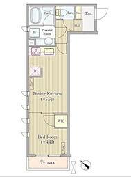 K's court 高輪台[3階]の間取り