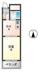 プリマベーラ藤井寺[3階]の間取り